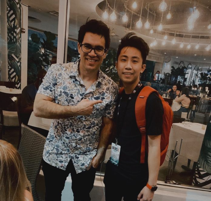 Andy Kong with Tai Lopez
